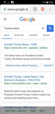 "In Google, we search for ""Trump news"". This is what  we get! First on the list is CNN, the worst Trump-hatered and fake news media of them all! And after that the rest of the scum and fake news media on the left! This is very disgraceful to all decent people who support Donald Trump and his politics!"