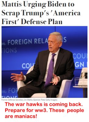 The war hawks is coming back. Prepare for ww3. These  people are maniacs!